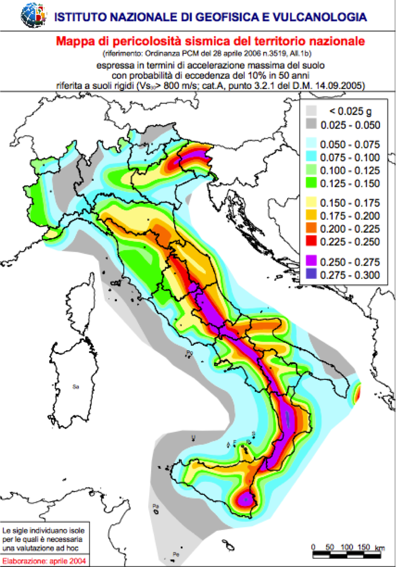 Mappa rischio sismico in italia io non faccio niente for Rischio sismico in italia